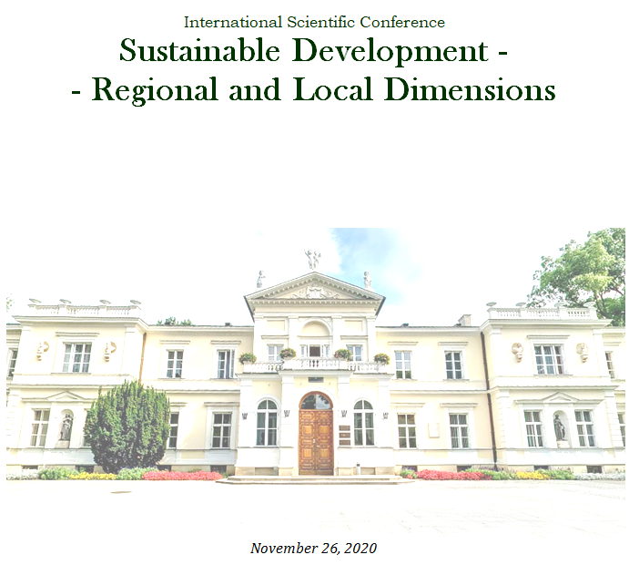 The International Scientific Conference Sustainable Development – Regional and Local Dimensions