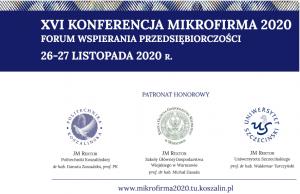 Zaproszenie na XVI Konferencję Naukową Forum Wspierania Przedsiębiorczości - Mikrofirma 2020