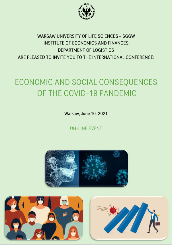 Invitation to International Conference Economic and Social Consequences of the COVID-19 Pandemic