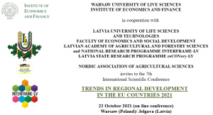 Invitation to the 7th International Scientific Conference Trends in Regional Development in the EU Countries 2021