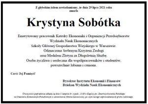 Krystyna Sobótka