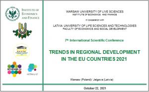 22 października 2021 roku odbyła się 7 Międzynarodowa Konferencja Naukowa Trends in Regional Development in the EU Countries 2021